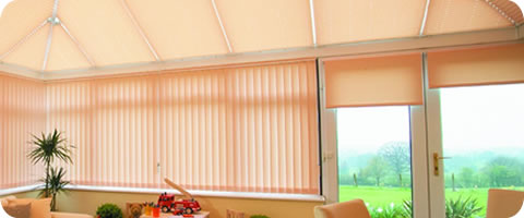 coordinated conservatory blinds