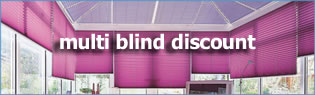multi unit discount pleated blinds