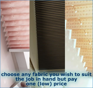 one low price pleated blinds