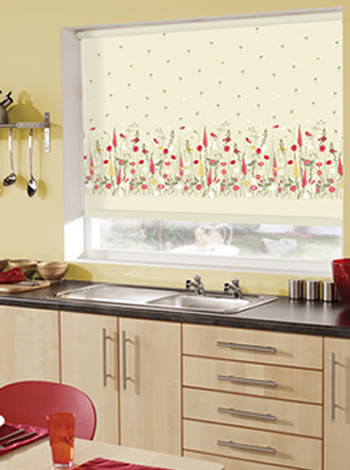 roller blind at kitchen window