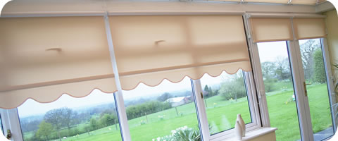 roller blinds in conservatory